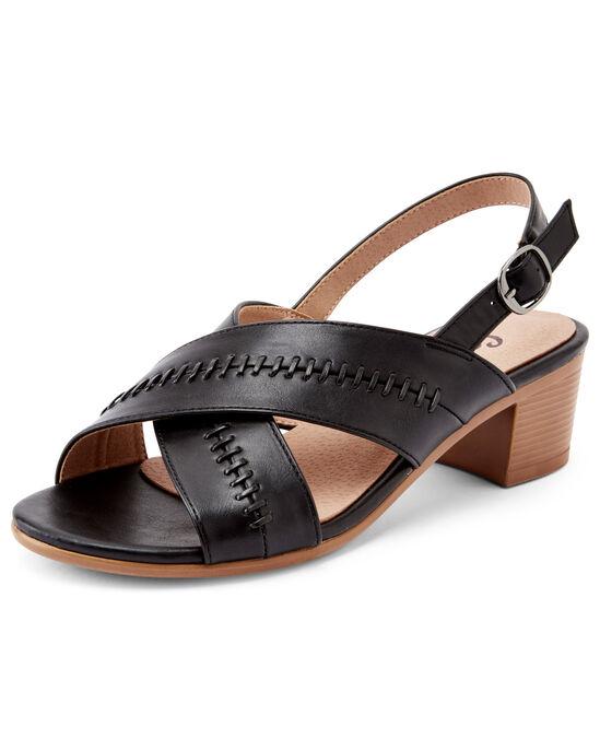Stitch Detail Heeled Sandals
