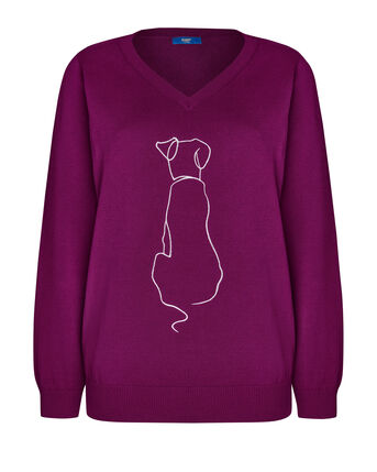 Happy Place Embroidered Animal Jumper