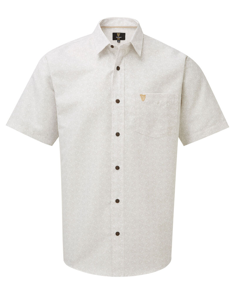 Touch Rugby Paisley: Guinness Short Sleeve Soft Touch Paisley Shirt At Cotton