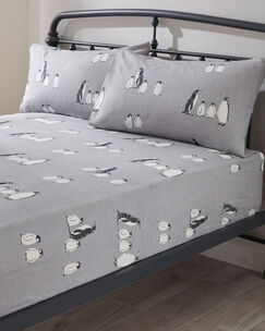 Emperor Brushed Cotton Fitted Sheet and Pillowcase Set