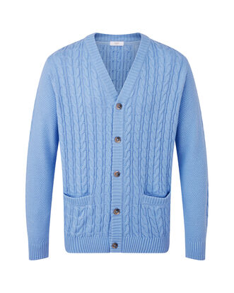 Cotton Cable Button Through Cardigan