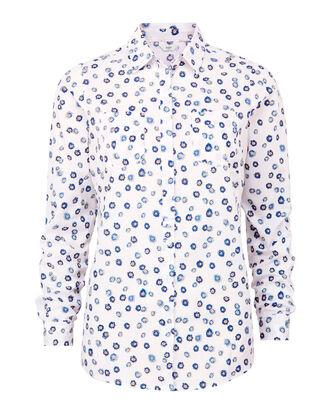 Blue Floral Wrinkle Free Shirt