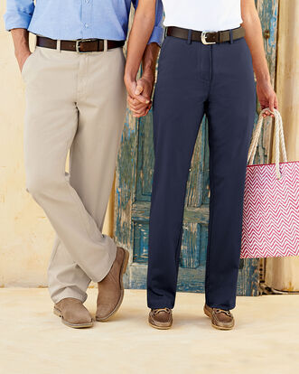 Mens Flat Front Chino Trouser