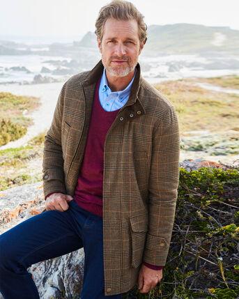 Durham Wool-blend Check Coat
