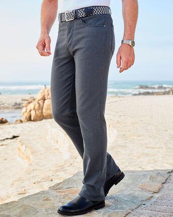 Check Stretch Jeans