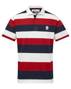 England Rose Short Sleeve Stripe Rugby Shirt