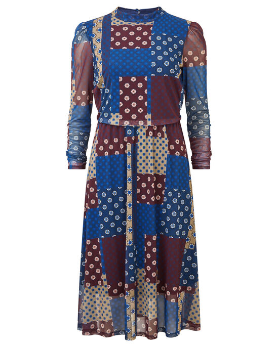 Patchwork Mesh Dress