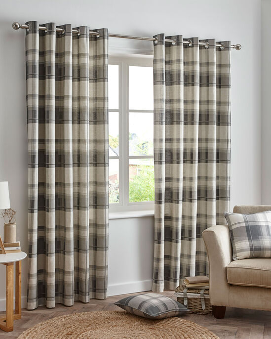 Balmoral Check Eyelet Curtains