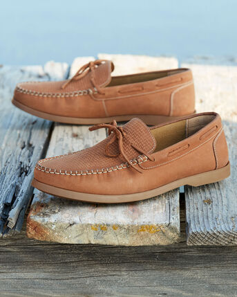 Leather Slip-on Boat Shoes
