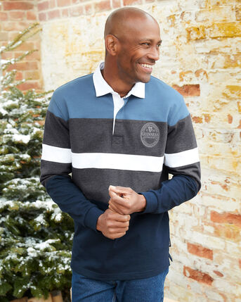 Guinness Long Sleeve Panelled Rugby Shirt
