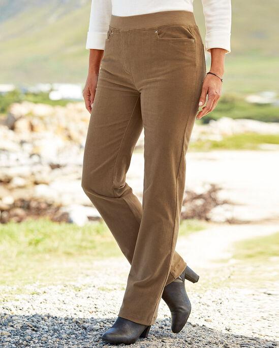 Premium Pull-on Rib Waist Cord Jeans