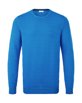 Cotton Crew Neck Textured Jumper