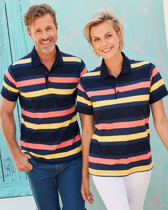 Organic Cotton Stripe Polo Shirt