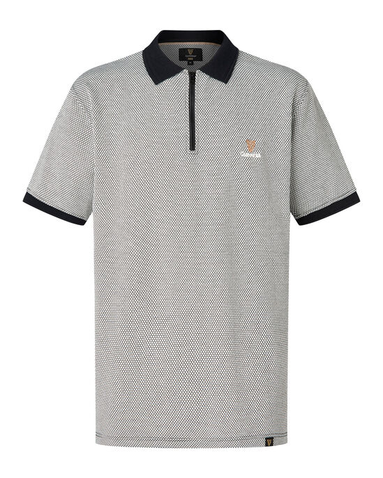 c9f8bb68434 Guinness Zip Neck Polo Shirt at Cotton Traders
