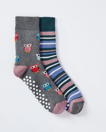 2 Pack Owl Slipper Socks