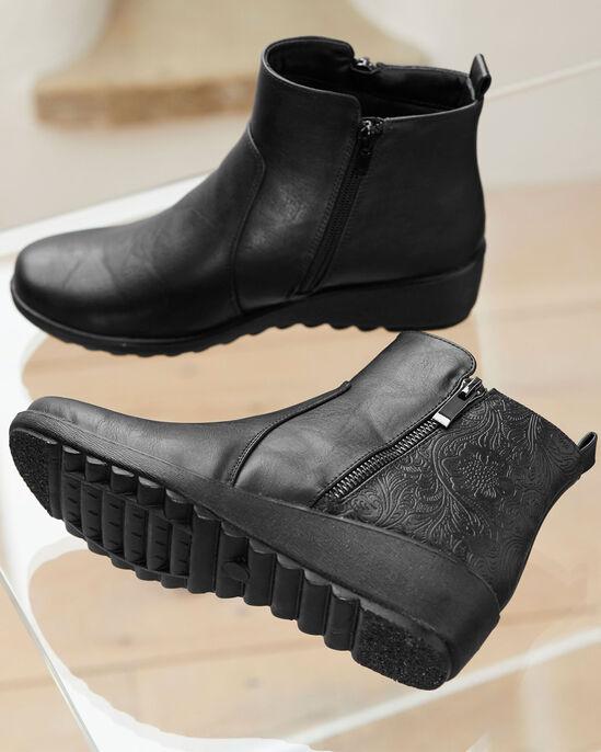 Flexisole Zip Detail Ankle Boots