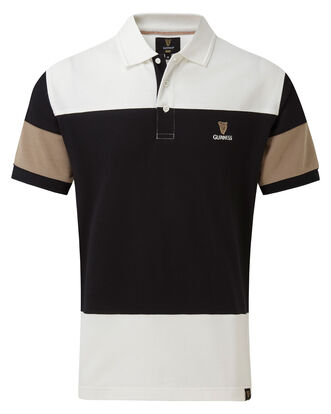 Guinness Contrast Sleeve Polo Shirt