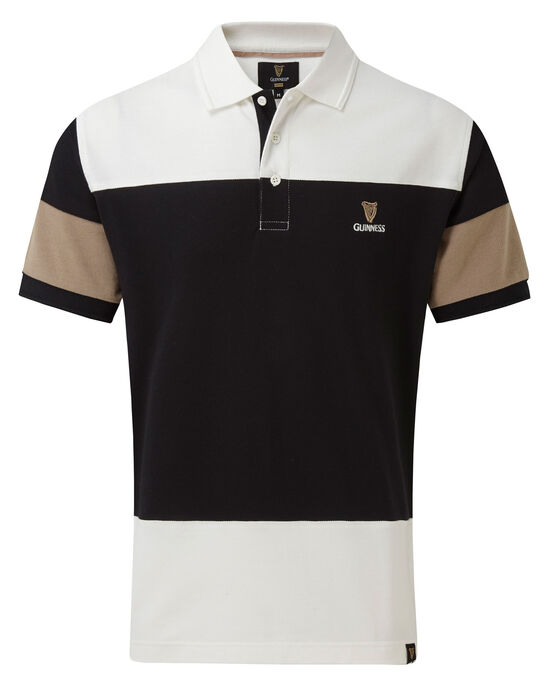 Guinness Contrast Sleeve Polo Shirt