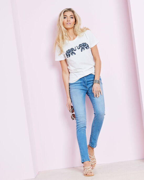 Embellished Placement T-shirt