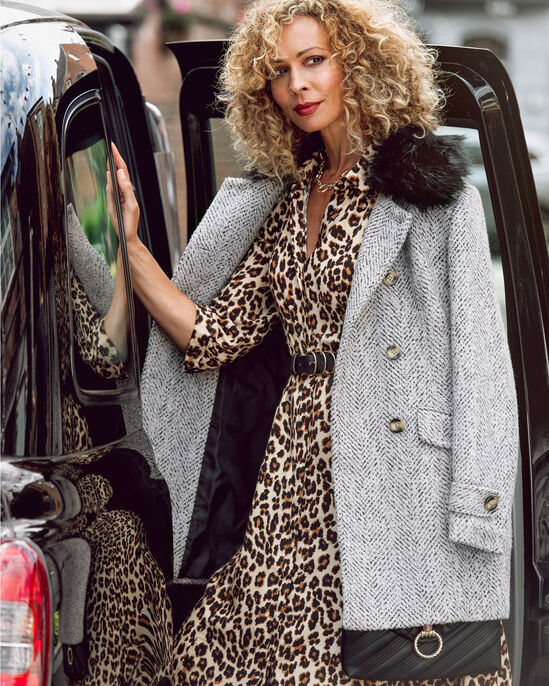 Leopard Print Button-through Printed Dress