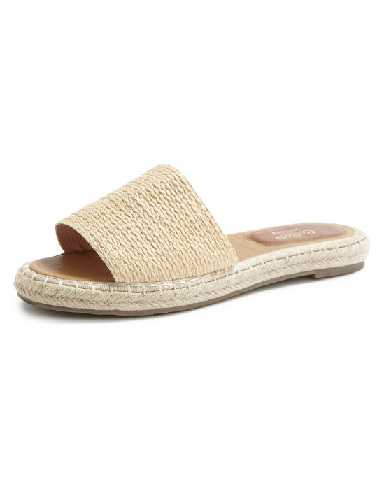 Raffia Mule Sandals