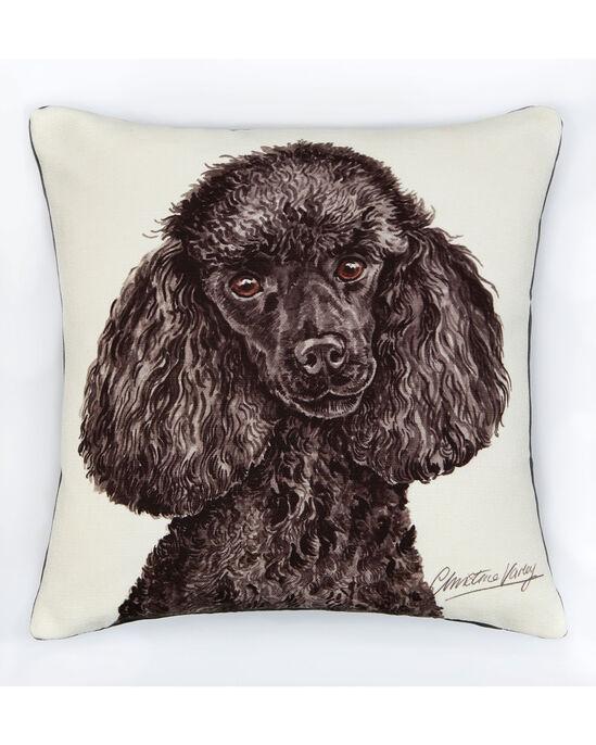 Waggy Dogz Black Poodle Cushion