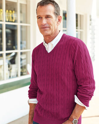 Cotton Cashmere Cable Jumper