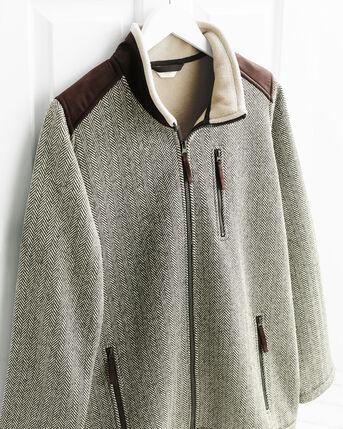 Herringbone Bonded Fleece Jacket