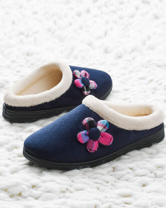 Flower Mule Slippers