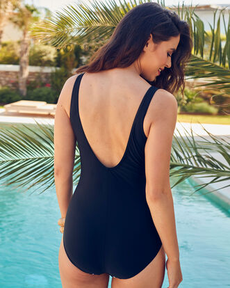 Spot Trim Swimsuit