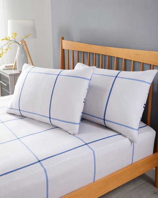 Tobias Check Brushed Cotton Fitted Sheet Set