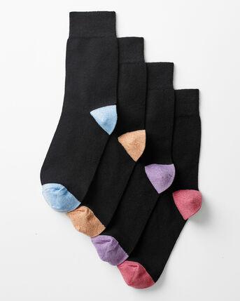 4 Pack Comfort Top Glitter Socks