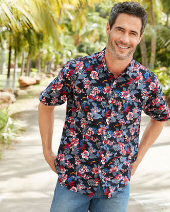 Guinness® Short Sleeve Soft Touch Hibiscus Toucan Shirt