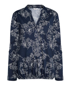 In-Bloom Floral Jersey Blouse