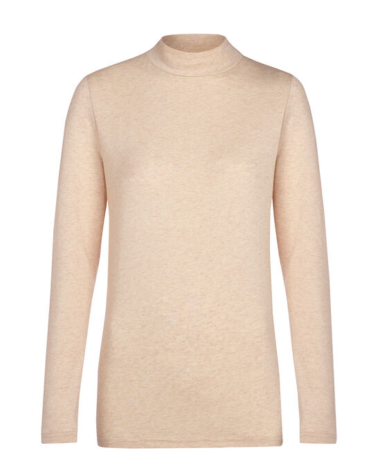 Chic Organic Funnel Neck Jersey Top