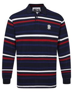 England Rose Long Sleeve Stripe Polo Shirt