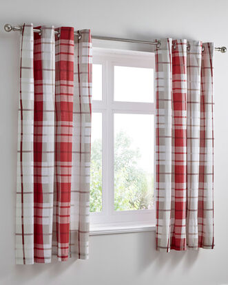 Carlton Eyelet Curtains 66x72""