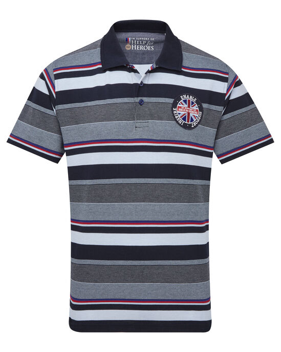 Help For Heroes Embroidered Stripe Shirt