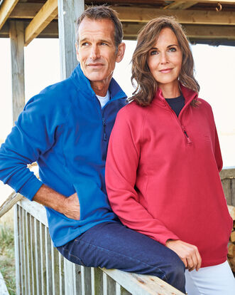 Recycled Microfleece Half Zip Top