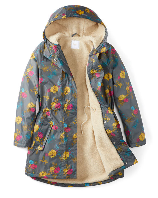 Waterproof Fleece Lined Print Parka