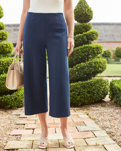 Wide Leg Crop Trousers
