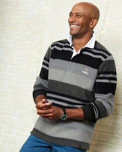 Guinnes Stripe Fleece Rugby Shirt