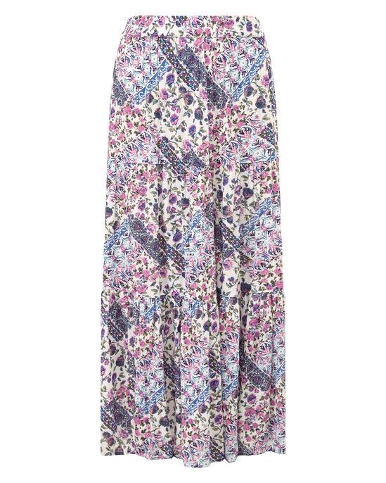 Print Tiered Skirt