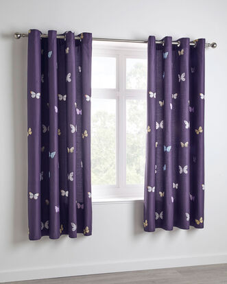 Alysha Eyelet Curtains 66x72""