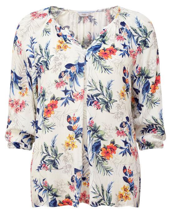 Floral Notch Neck Blouse