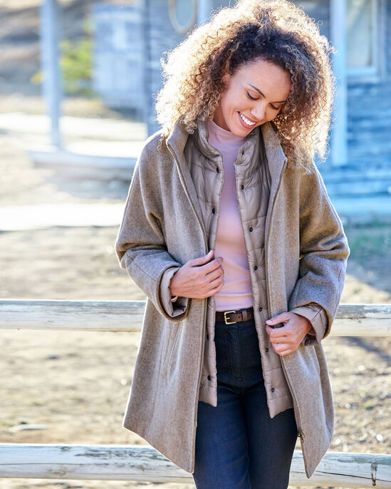 Mock Layer Coat