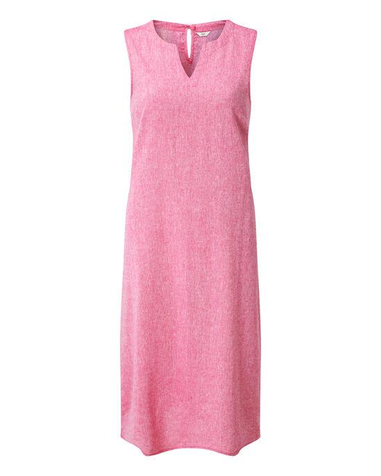 Linen-blend Midi Dress