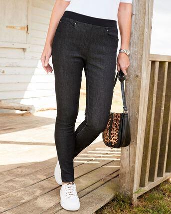 Premium Pull-on Rib Waist Super Slim Jean