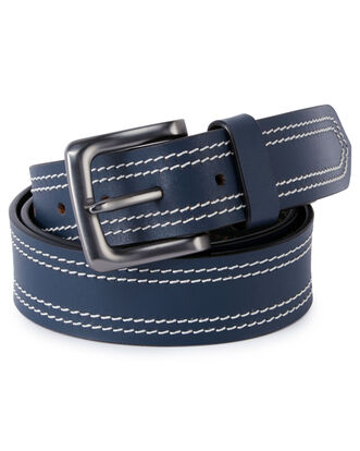 Men's Tonal Stitch Leather Belt