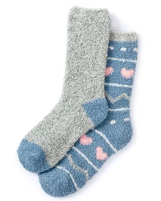 2pk Cosy Bed Socks